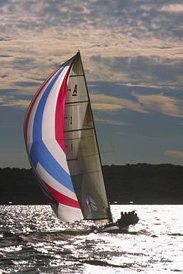 Sunlit Sails - Lake Geneva Wisconsin Poster by Bruce Thompson