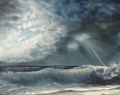 Sunlit Sea Poster