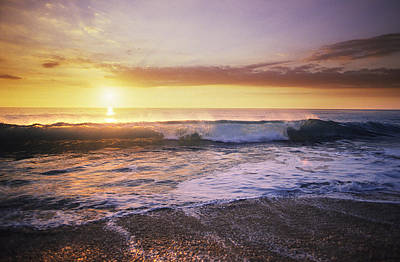 Sunlit Wave Poster