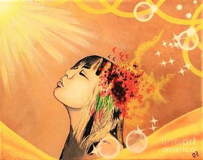 Sunning Poster by Olga Zavgorodnya