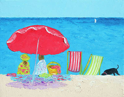 Sunny Afternoon At The Beach Poster