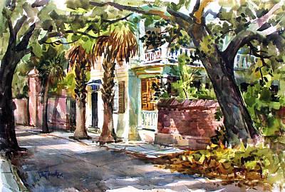 Sunny Charleston South Carolina Poster by Tony Van Hasselt