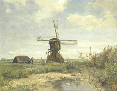 Sunny Day - A Mill To A Watercourse Poster by Paul Gabriel