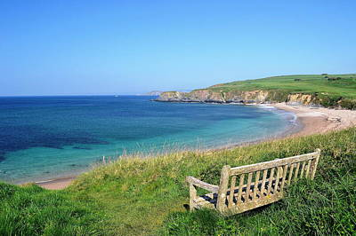 Sunny Day At Thurlestone Beach Poster by Photo by Andrew Boxall