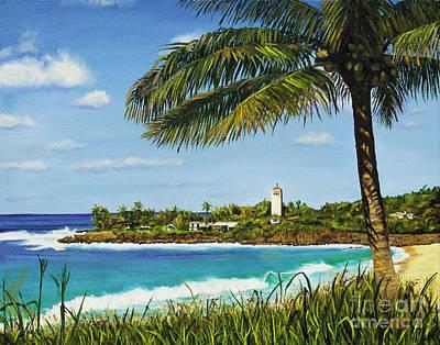 Sunny Day At Waimea Bay Poster by Pati O'Neal