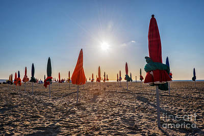 Sunny Deauville Poster by Delphimages Photo Creations