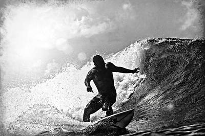 Sunny Garcia In Black And White Poster by Paul Topp