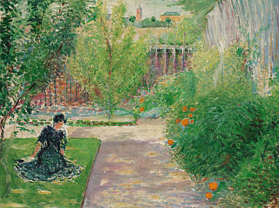Sunny Garden Poster by August Macke