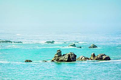 Sunny Pacific Ocean Oregon Coast Poster