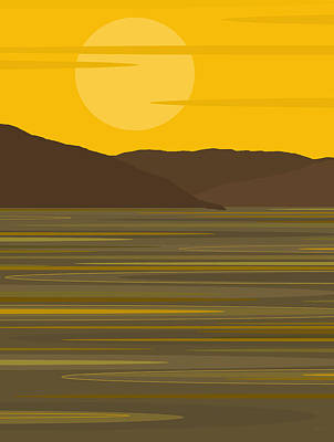Sunny River Poster by Val Arie