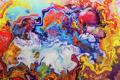 Sunny Side Of The Street - Colorful Psychedelic Abstract Painting Poster by Modern Art Prints