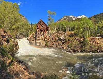 Sunny Skies Over The Crystal Mill Poster