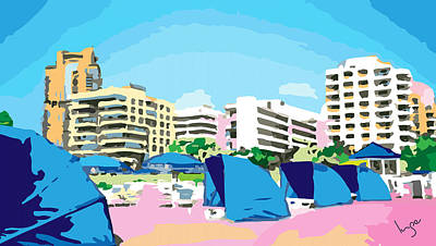 Sunny South Beach Miami Poster by Inge Lewis