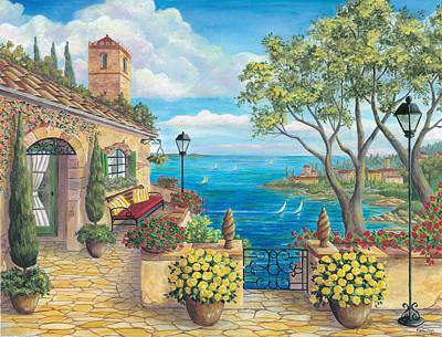 Sunny Villa Poster by Cheryl Hamilton