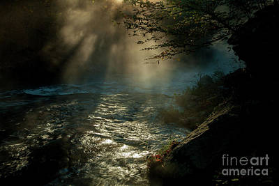 Sunrays At Fork River Poster by Iris Greenwell