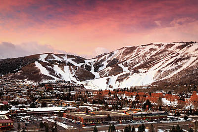 Poster featuring the photograph Sunrise Above Park City Mountain, Utah. by Johnny Adolphson