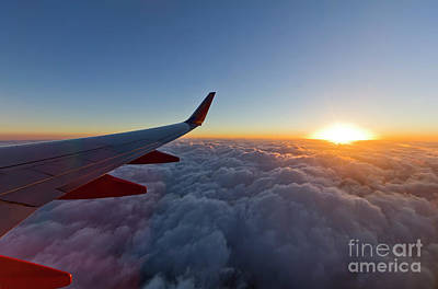 Sunrise Above The Clouds On Southwest Airlines Poster by Dustin K Ryan