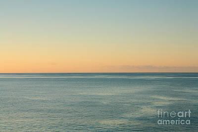 Sunrise And Serene Ocean Poster