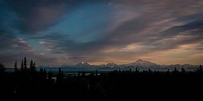 Sunrise And The Alaska Range Poster