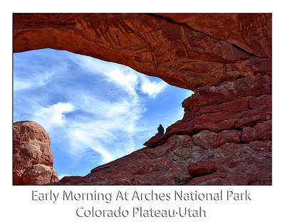 Sunrise Arches National Park Utah Text Poster