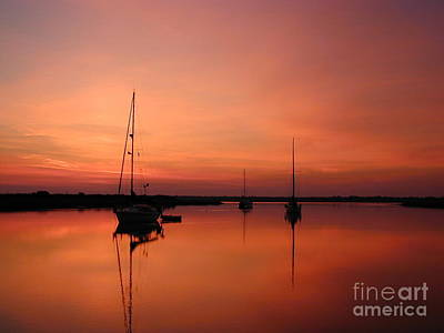 Sunrise At Anchor Poster by Judee Stalmack