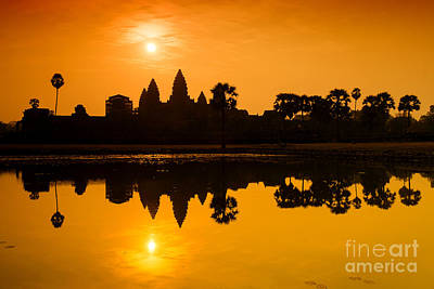 Poster featuring the photograph Sunrise At Angkor Wat by Yew Kwang