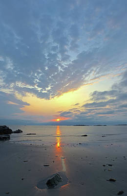 Poster featuring the photograph Sunrise At Cohasset Sandy Beach by Juergen Roth
