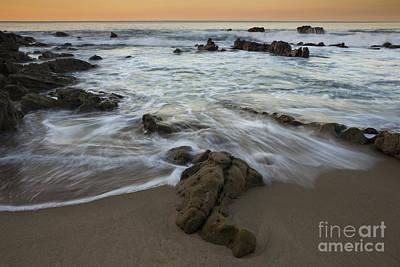 Sunrise At Laguna Beach Poster by Keith Kapple