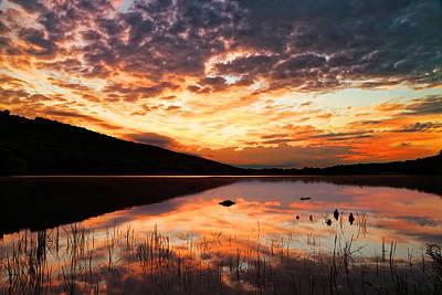 Sunrise At Locust Lake State Park Poster