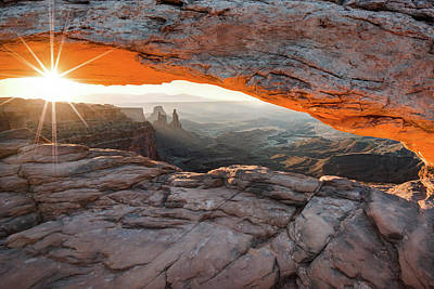 Sunrise At Mesa Arch - Canyonlands National Park Poster by Gregory Ballos