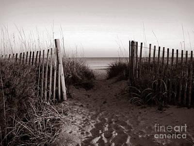 Sunrise At Myrtle Beach Sc Poster by Susanne Van Hulst
