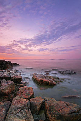 Sunrise At Seawall In Southwest Harbor Poster by Juergen Roth