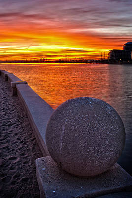 Sunrise At Tempe Town Lake Poster by Dave Dilli