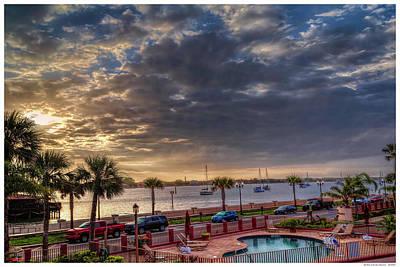 Sunrise At The Bay Front Inn Poster