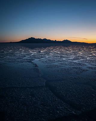 Sunrise At The Bonneville Salt Flats Poster