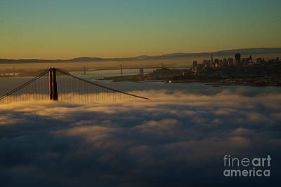 Poster featuring the photograph Sunrise At The Golden Gate by David Bearden