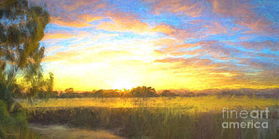 Sunrise At The Inlet 2 Poster by Jan Pudney