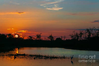 Sunrise At The Spillway Poster by Robert Frederick
