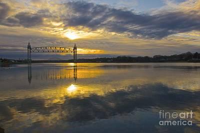 Sunrise At The Train Bridge Poster by Amazing Jules