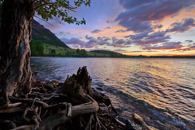 Poster featuring the photograph Sunrise At Waterton Lakes by Dan Jurak