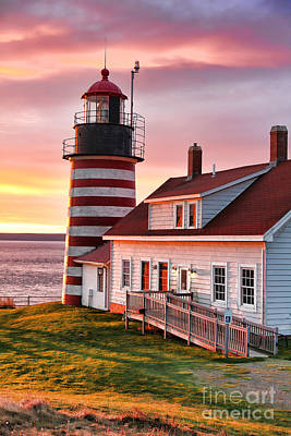 Sunrise At West Quoddy Head Poster by Jack Schultz