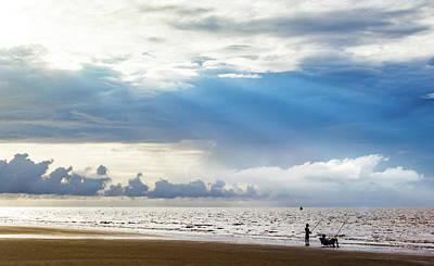 Sunrise Beach Fishing Poster