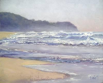Poster featuring the painting Sunrise Beach Sunshine Coast Queensland Australia by Chris Hobel