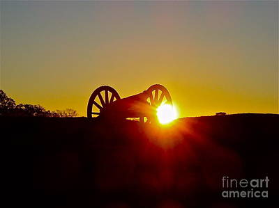 Sunrise Cannon Poster by E Robert Dee