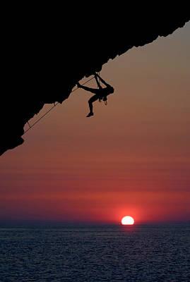 Sunrise Climber Poster