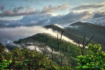 Sunrise Clouds Blue Ridge Parkway Poster