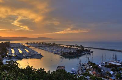 Sunrise Dana Point Harbor Poster by Cliff Wassmann