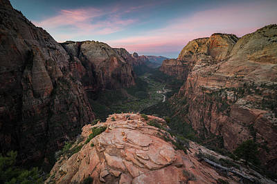 Sunrise From Angels Landing Poster by James Udall