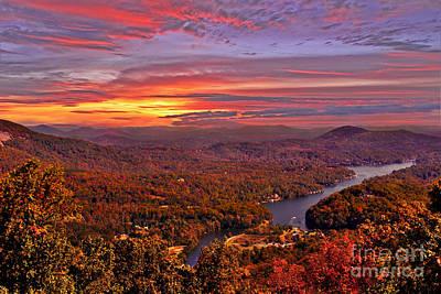 Sunrise From Chimney Rock Poster by Jeff McJunkin