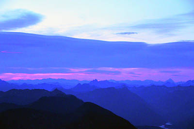 Sunrise From Pilchuck Summit Poster